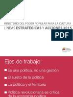 Líneas Estratégicas y Acciones 2015 MPPC