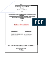 PROJECT REPORT ON RELIANCE