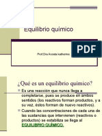 Equilibrio y Le Chatelier UP