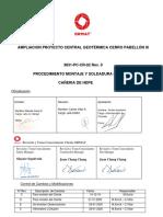 3831-PC-CR-02 PROCEDIMIENTO  SOLDADURA Y MONTAJE DE CAÑERÍAS HDPE Rev .0.pdf