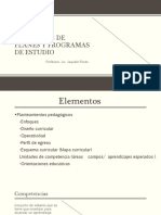 Elementos de planes y programas de estudiog