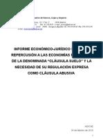 Dossier ADICAE Clausulas Suelo Congreso_Senado