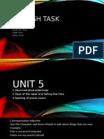 english task unit 5