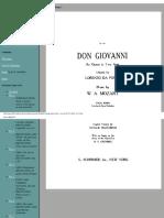 Partitura Don Giovanni