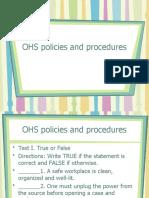 OHS policies and procedures