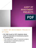 Audit of investment projects