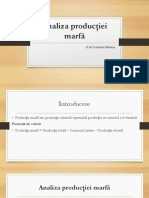 Seminar 3 - Analiza producţiei marfă