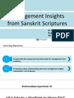 Management Insights from Sanskrit Scriptures