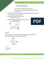 Math Worksheet-Distance Formula