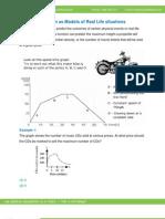 Math Worksheet-Function as Model