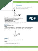 Math Worksheet-Intercepts