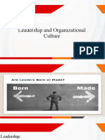 Leadership and Organizational Culture 1