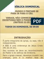 ESCOLA BÍBLICA DOMINICAL - CONVITE