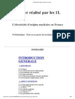 L'Électricité d'Origine Nucléaire en France