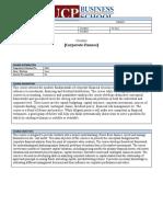 Corporate Finance Course Outline