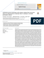 Gasification process integration with existing combined heat and power plants for polygeneration of dimethyl ether or methanol