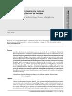 Fundamentos conceituais para uma teoria do planejamento urbano baseada em decisões