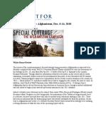 A Week in the War Afghanistan Dec 8-14