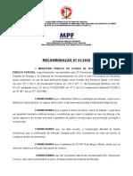 Recomendação Coronavírus caop saude e mpf - ENERGIA E AGUA-1
