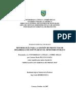 GESTIÓN DE PROYECTOS DE DESARROLLO DE SOFTWARE