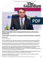 WhatsApp fake news during Brazil election 'favoured Bolsonaro' _ World news _ The Guardian (espalhamento fake news)