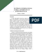 A Saúde Pública Internacional e Global Governança e Questões Éticas
