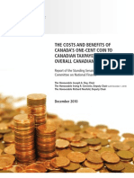The Costs and Benefits of Canada's One-Cent Coin to Canadian Taxpayers and the Overall Canadian Economy - December 2010
