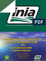 Costos de Produccion en Paprika