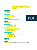 FMI Formula Sheet