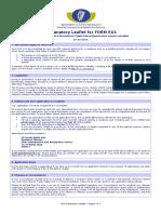 Form EU1 Explanatory Leaflet