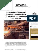 10 conseils sur comment créer son propre produit, et engranger des revenus.pdf
