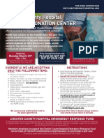 Chester County Hospital COVID - 19 DONATION CENTER