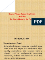 PPT--- ORUTA PRIVACY-PRESERVING PUBLIC AUDITING