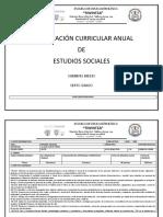 PLANIFICACIÓN CURRICULAR ANUAL ESTUDIOS SOCIALES