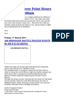 Midnight Prayer Point Hours 12_00am to 3_00am_ 160 MIDNIGHT BATTLE PRAYER POINTS By DR D K OLUKOYA