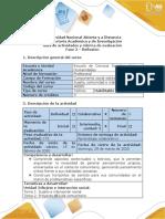 Guía de actividades y rúbrica de evaluación - Fase 2 Reflexión