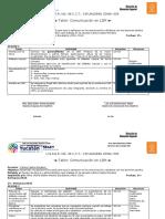 carta descriptiva taller de lsm,
