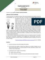 Ficha de Atividades - Críticas à ética kantiana