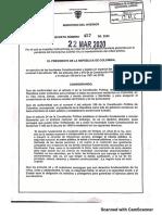 Decreto 457 Presidencia Colombia
