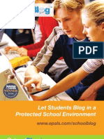 School Blog Brochure