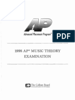 Music Theory Released Exam 1998