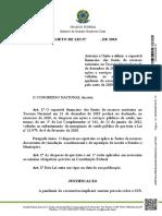 PL - Financiamento ASPS coronavírus