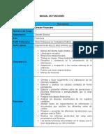 Manual de Funciones Área Financiera