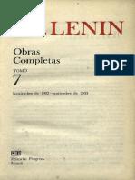 Obras completas. Tomo 7 (septiembre 1902 - septiembre 1903) - Vladimir I. Lenin