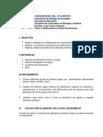 Parctica #1. Elaboración de Claves Dicotómicas - UA Practica 1