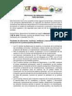 PROTOCOLO DE DERECHOS HUMANOS PARO NACIONAL 21 DE NOVIEMBRE 2019