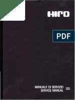 Aprilia MX, Enduro 125 Hiro engine service manual