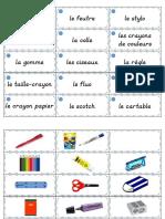 Portes-mots lexicaux - Le matériel scolaire