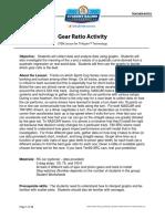 Gear Ratio Activity Teacher Notes