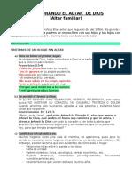 RESTAURANDO EL ALTAR  DE DIOS_II PARTE